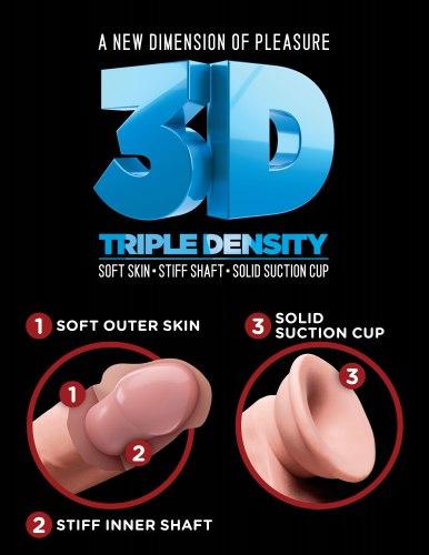 """Realistické dildo s varlaty Triple Density 8"""""""