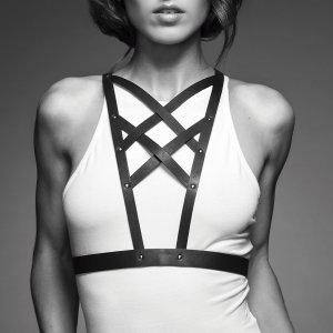 Řemínkový postroj MAZE Cross Cleavage Harness – BDSM postroje