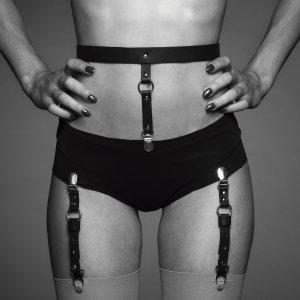 Podvazkový pás na spodní prádlo a punčochy MAZE – BDSM postroje