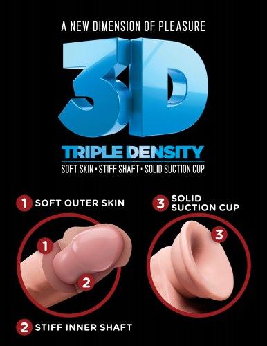 """Realistické dildo s varlaty Triple Density 6.5"""""""