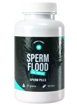Tablety na lepší tvorbu spermií Devils Candy Sperm Flood – Přípravky pro zlepšení spermatu
