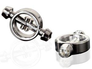 Magnetické svorky na bradavky Metal Worx – Skřipce a svorky na bradavky, klitoris a stydké pysky