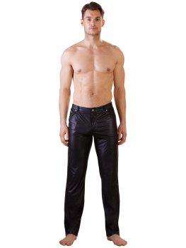 Lesklé pánské kalhoty s kapsami NEK – Pánské kalhoty a legíny