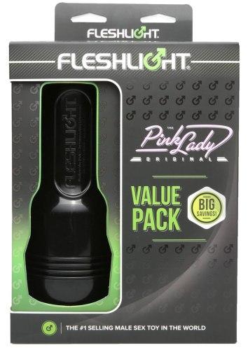 Výhodná sada - umělá vagina Fleshlight Pink Lady + příslušenství