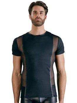 Pánské tričko s průsvitnými vsadkami a kovovými detaily – Pánská trička a tílka