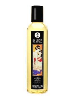 Erotický masážní olej Shunga Sensation Lavender – Erotické masážní oleje a emulze