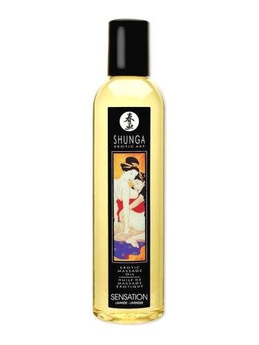 Erotický masážní olej Shunga Sensation Lavender