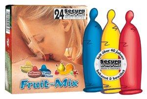 Kondom Secura - barevný s příchutí – Kondomy s příchutí na orální sex