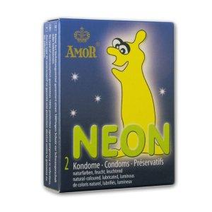 Svítící kondomy Amor NEON – Kondomy svítící ve tmě