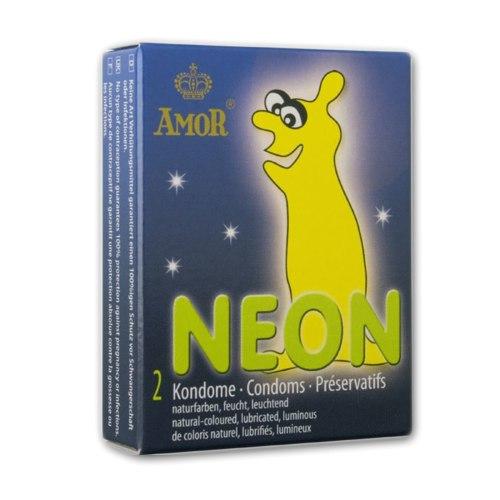 Svítící kondomy Amor NEON