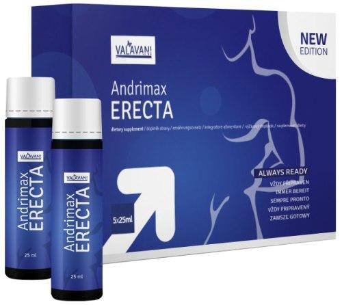 Podpora erekce - prášky, krémy, gely: Nápoj pro okamžité posílení erekce Andrimax ERECTA