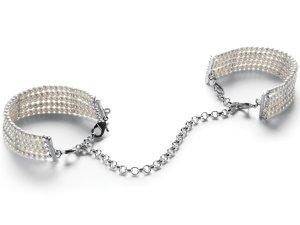 Perlová pouta - náramky, bílá – Ozdobná pouta na ruce (náramky)