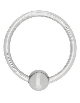 Kovový stimulační/erekční kroužek s kuličkou – Stimulační kroužky na penis