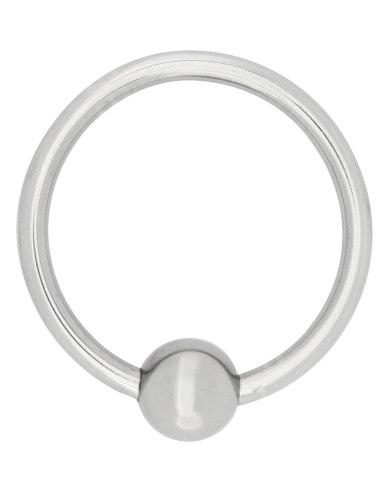 Kovový stimulační/erekční kroužek s kuličkou