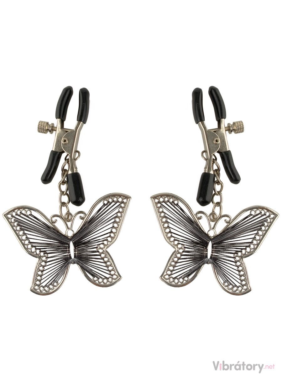 Pipedream Skřipce na bradavky Fetish Fantasy Butterfly Nipple Clamps (motýlci)