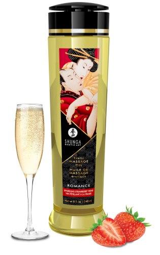 Erotické masážní oleje a emulze: Masážní olej Shunga ROMANCE Sparkling Strawberry Wine