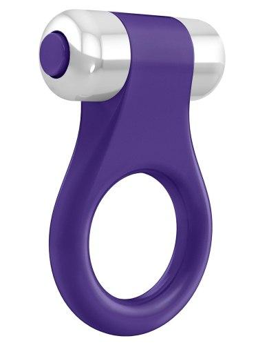 OVO B1 Vibrační erekční kroužek, fialový