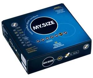 Kondom MY.SIZE 64 mm, 1 ks – XL a XXL kondomy pro velké penisy