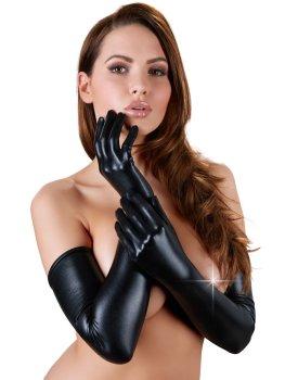 Extra dlouhé lesklé rukavice – Sexy rukavice a návleky na ruce