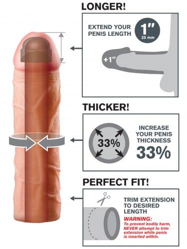 Návlek na penis, prodlouží o 2,5 cm