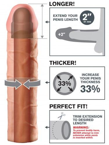 Návlek na penis, prodlouží o 5,1 cm