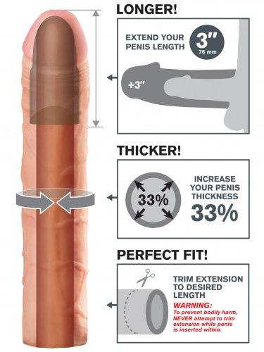 Návlek na penis, prodlouží o 7,6 cm