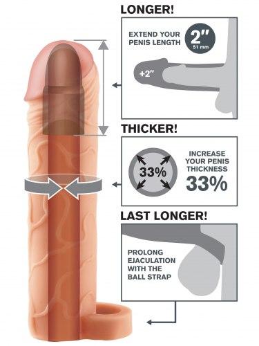 Návlek na penis s poutkem, prodlouží o 5,1 cm