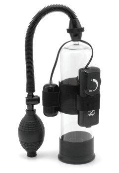 Vibrační vakuová pumpa na penis POWER PUMP – Vakuové pumpy pro muže