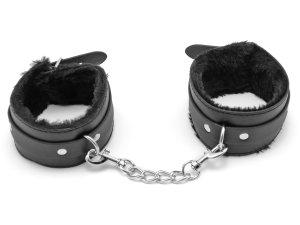 Pouta na nohy s kožíškem – Pouta, lana a pomůcky pro bondage