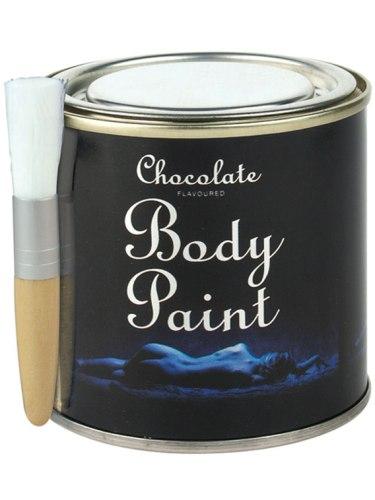 Čokoládový bodypainting v plechovce