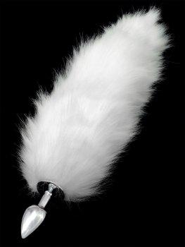 Anální kolík liščí ocásek, bílý – Anální kolíky s ocasem