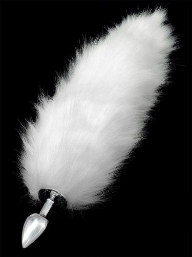 Anální kolík liščí ocásek, bílý