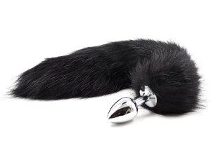 Anální kolík liščí ocásek, černý – Anální kolíky s ocasem
