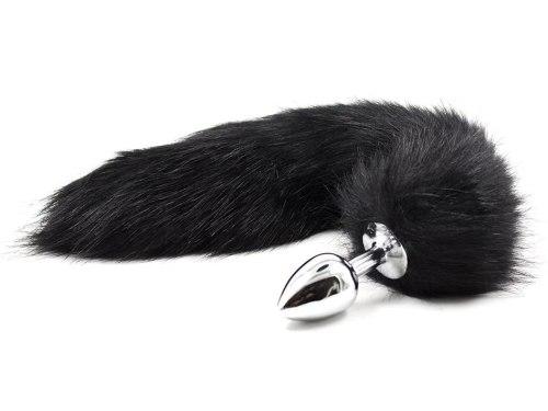 Anální kolík liščí ocásek, černý