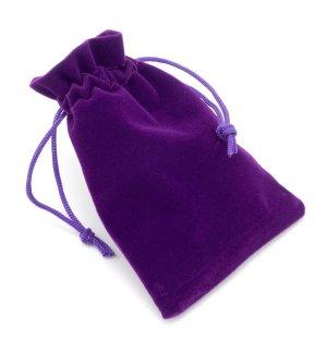 Dárkový sametový pytlík - fialový, 9x12 cm – Dárkové krabičky a tašky