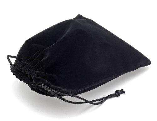 Dárkový sametový pytlík - černý, 11x16 cm