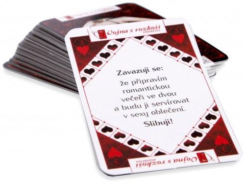 Erotické karty - Vojna s rozkoší