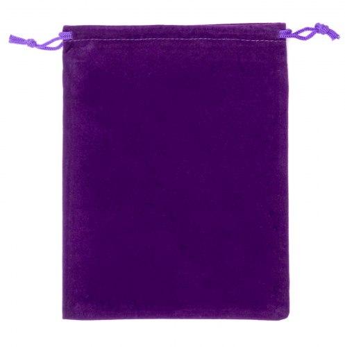 Dárkový sametový pytlík - fialový, 15x20 cm