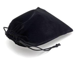 Dárkový sametový pytlík - černý, 15x20 cm – Dárkové krabičky a tašky