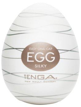Masturbátor TENGA Egg Silky – Masturbátory a honítka TENGA