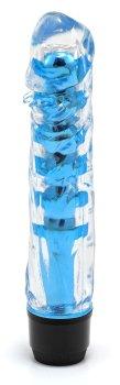 Transparentní vibrátor, modrý – Klasické vibrátory