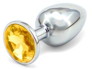 Anální kolík se šperkem, zlatý – Klasické anální kolíky