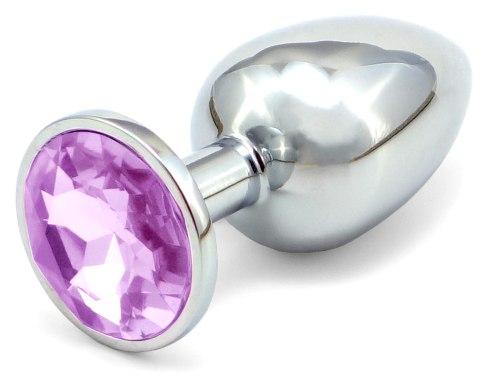 Anální kolík se šperkem, světle fialový