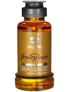 Hřejivá masážní emulze - vanilka/skořice – Erotické masážní oleje a emulze