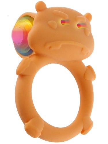 Vibrační erekční kroužek Happy Hippo