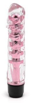Transparentní vibrátor, světle růžový – Vibrátory na bod G