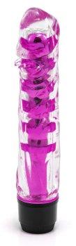 Transparentní vibrátor, fialový – Klasické vibrátory