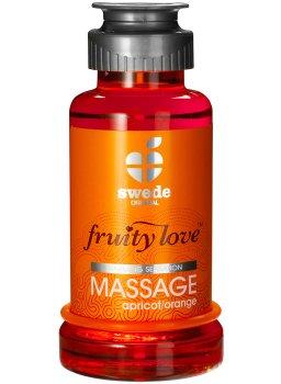 Hřejivá masážní emulze - meruňka/pomeranč – Erotické masážní oleje a emulze