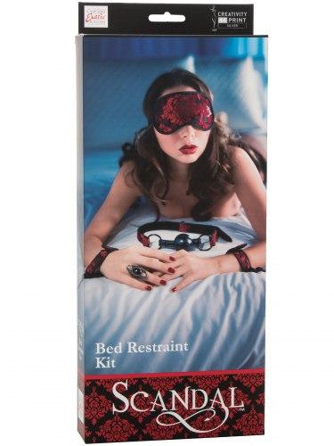SCANDAL Pouta na postel, roubík a maska na oči