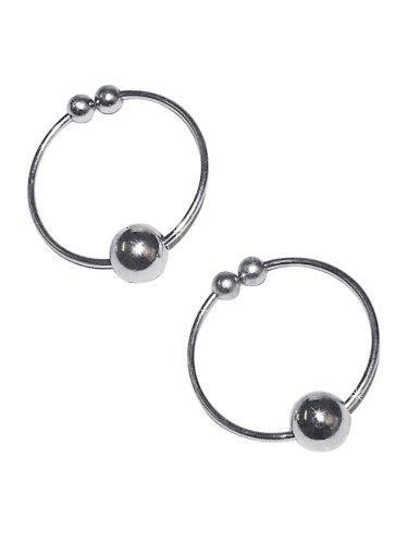 Kroužky na bradavky - falešný piercing, stříbrné
